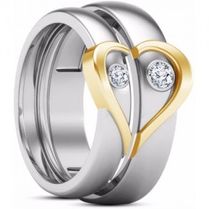 Avn Jewellers Stainless Steel Couple Rings