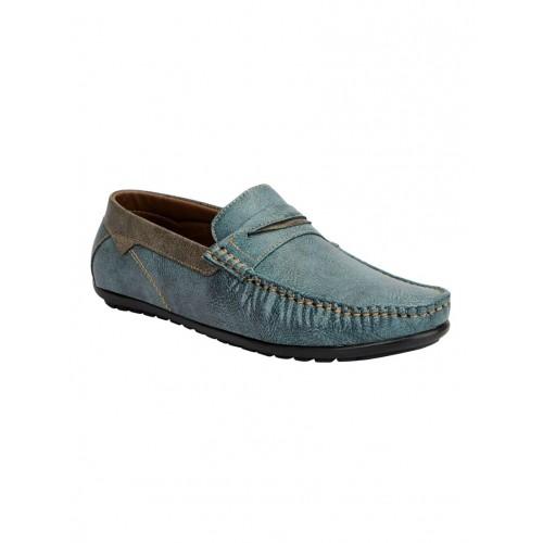 12f1975a359 Buy FAUSTO blue leatherette slip on loafer online