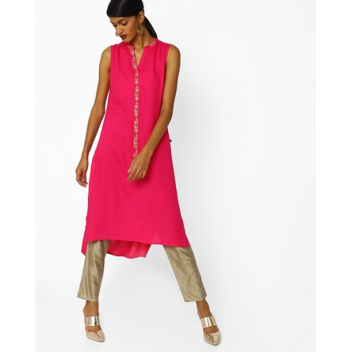 b2533b6ad27 Buy AVAASA MIX N' MATCH Magenta High-Low Kurta online | Looksgud.in
