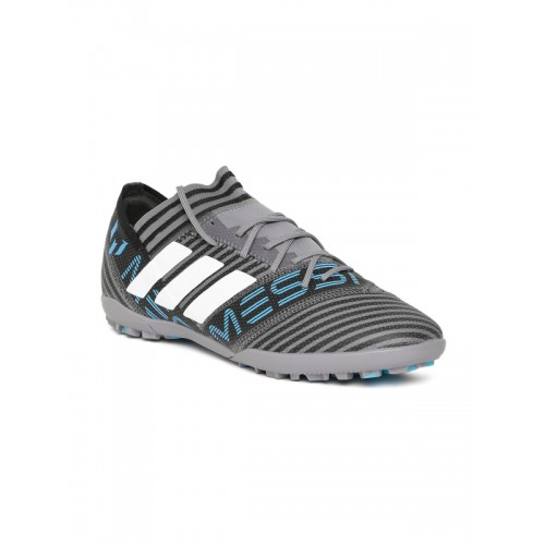 60aea0bf10b8 ... Adidas Men Grey NEMEZIZ Messi Tango 17.3 TF Striped Football Shoes ...