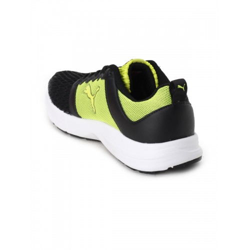 Buy Puma Unisex Black   Fluorescent Green Fabian IDP Running Shoes ... c9b8388c8