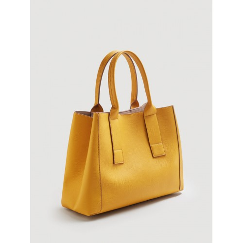 Mango Mustard Yellow Solid Handbag