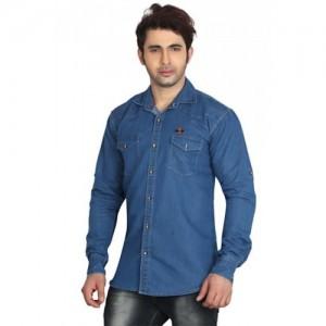 Meraki Indigo Double Pocket Single Denim Shirts