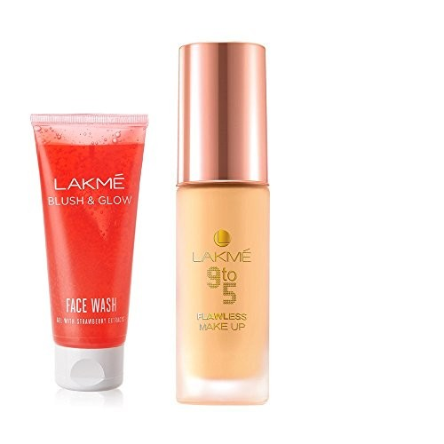 ... Lakme Lakme 9 to 5 Flawless Makeup Foundation, Marble, 30 ml ( free Lakme ...
