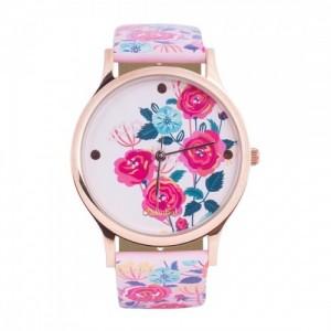Chumbak Pink Rose Garden PU Wrist Watch
