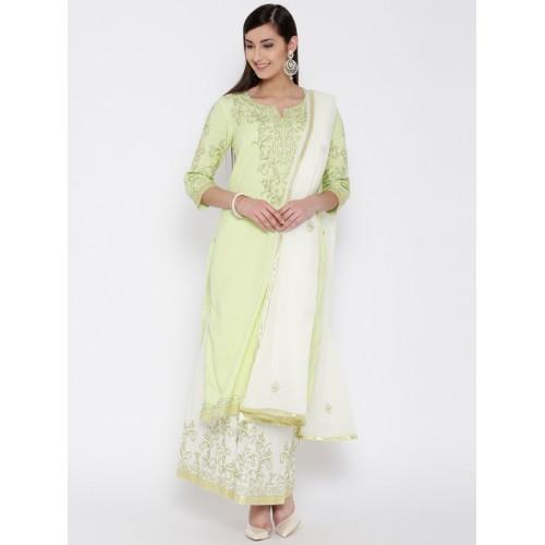 Ihram Kids For Sale Dubai: Buy Biba Green & Off-White Embroidered Kurta With Palazzo