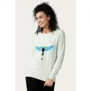 Zelocity Rising Phoenix Graphic Print Sweater- Grey