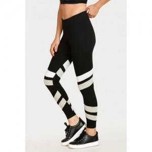 West Vogue West Vogue Neo Play Skin Fit Legging - Black N Grey