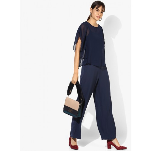 Dorothy Perkins Navy Blue Solid Jumpsuit
