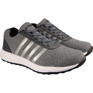 Action Synergy Men's 7204 Grey/Black Sports Running Shoes For Men