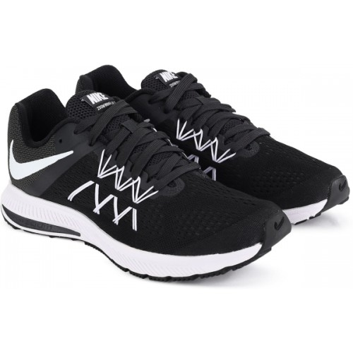sale retailer ff3ab af843 Buy Nike Zoom Winflo 3 Black Running Shoes online | Looksgud.in