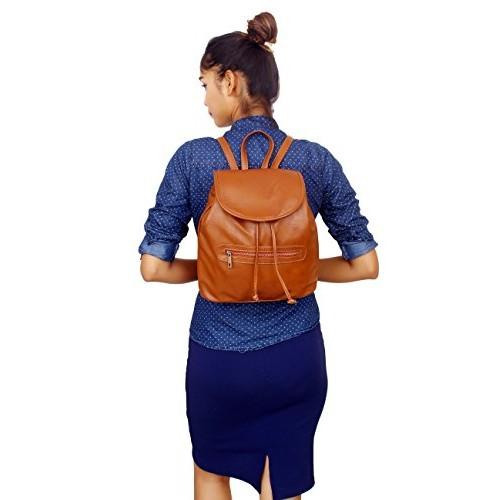 Lychee Bags Women's Copper PU Backpack (LBBPPU55RT)