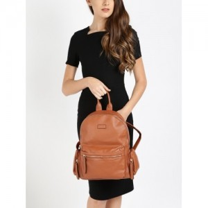 20Dresses Brown Synthetic Solid Backpack