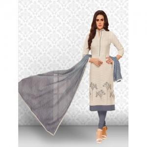 Divastri Cotton Embroidered Salwar Suit Material