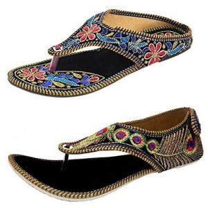 Thari Choice Woman Rajasthani Chappal Ethnic Wear Combo Pack
