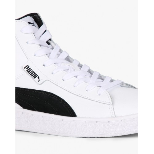 Puma Men White 1948 Mid L Top Leather Sneakers