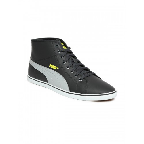 ... Puma Men Grey Solid Synthetic Leather Mid-Top Elsu v2 Mid SL IDP  Sneakers ... 2e5d624c9