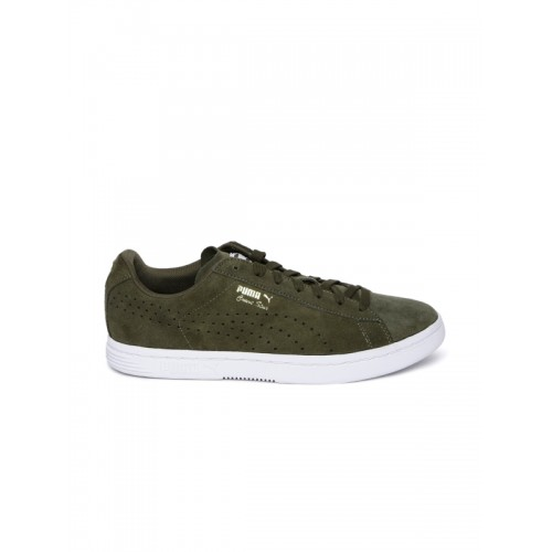 premium selection e62a8 da56c Buy Puma Unisex Olive Green Court Star Suede Sneakers online ...