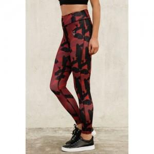 Zelocity Dark Pink N Print Luxe Training Legging