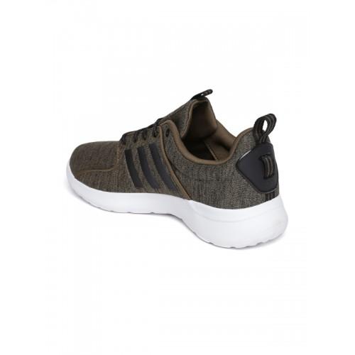 comprare adidas neo uomini olive brown cloudfoam lite corsa scarpe online