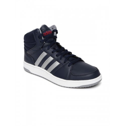 outlet boutique quite nice special for shoe Buy Adidas NEO Men Navy Solid Hoops VS Mid-Top Sneakers ...
