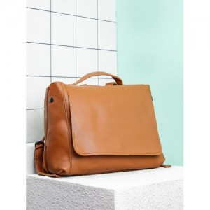 20Dresses Tan Synthetic Solid Backpack