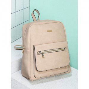 20Dresses Beige Synthetic Solid Backpack