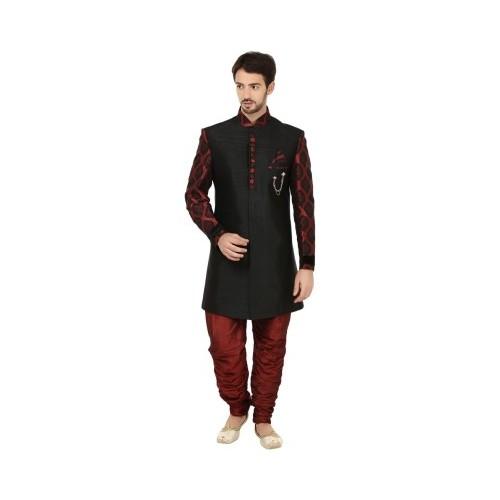 f48c2f97e Buy Khaan Saab Editions Contemporary Self Design Sherwani online ...