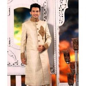 fashionable golden sherwani