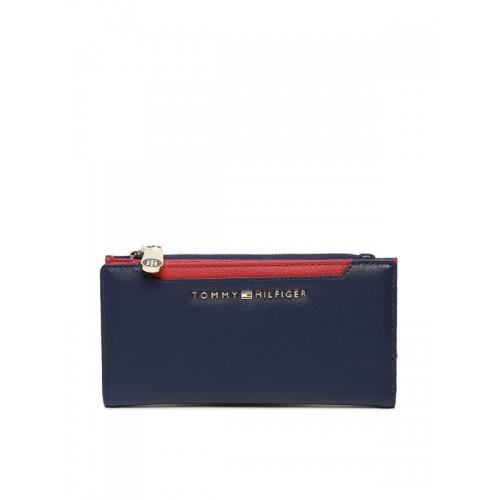 a9851d4fe2862 Buy Tommy Hilfiger Women Navy Blue Solid Two Fold Wallet online ...