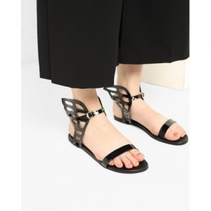 Misfit Panda Ankle-Strap Sandals with Wings