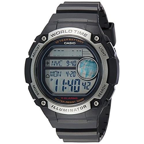 Casio Black Round Digital Watch AE-3000W-1AVDF(D135)