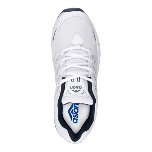 ASIAN White Mesh Lace Up Running Shoes