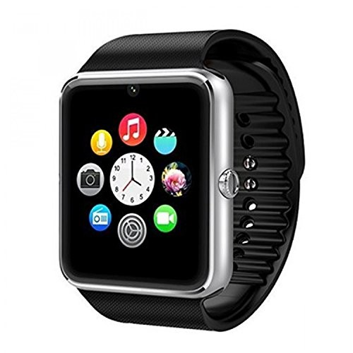 Generic Black GT08 Bluetooth 3.0 Smart Watch With Camera