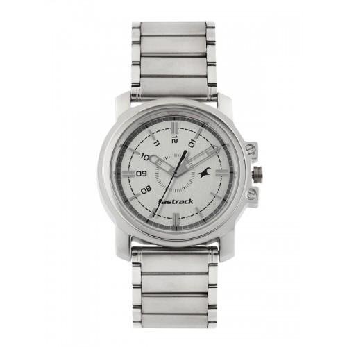 Fastrack Economy Analog White Dial Men's Watch - 3039SM01