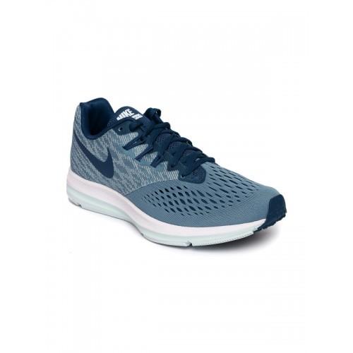 297e612d566 Buy Nike Women Blue Mesh ZOOM WINFLO 4 Running Shoes online ...