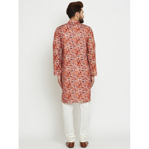 SOJANYA Multicoloured & White Printed Kurta with Pyjamas