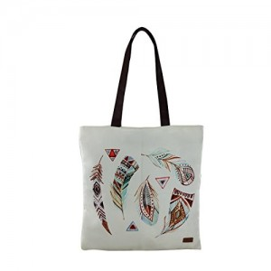 YOLO Boho Feather Tote for Women/Girls