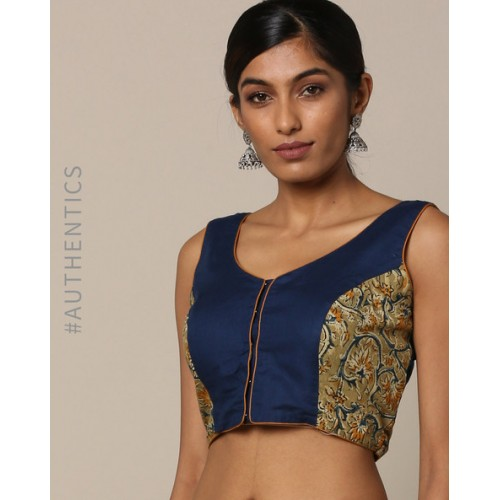 b4ec4d4d7d1c01 Buy Indie Picks Kalamkari Print Cotton Sleeveless Blouse online ...