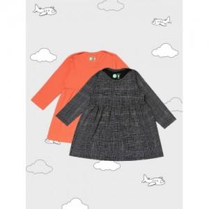 YK Organic Girls Pack of 2 A-Line Dresses