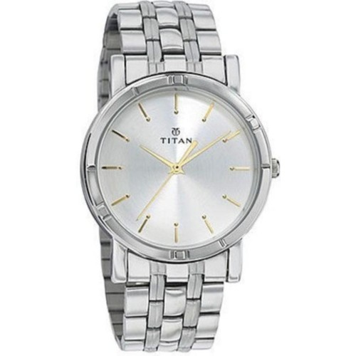 Titan 1639SM01 Round Stainless Steel Analog Watch