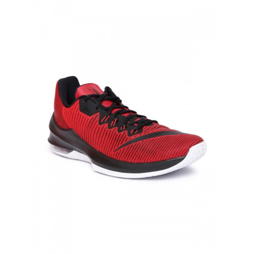 the latest 05bf5 a3f4d ... Nike Men Red AIR MAX INFURIATE 2 LOW Basketball Shoes ...