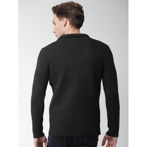 Mast & Harbour Charcoal Grey Solid Blazer