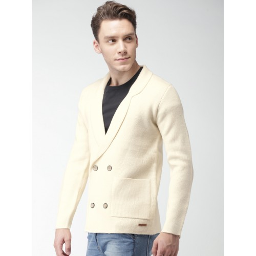 Mast & Harbour Cream Single-Breasted Blazer