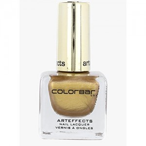 Colorbar Art Effects Nail Lacquer, Coppertone Gold-002, 12ml