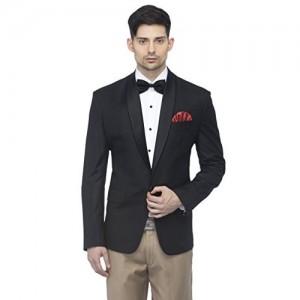 Favoroski Black Italian Fit Tuxedo Designer Slim Fit Casual Blazer