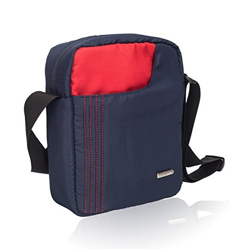 COSMUS Polyester 6 Ltr Navy Blue-Red Messenger Bag
