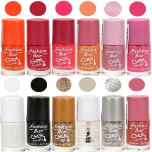 Fashion Bar Exclusive Multi Color Nail Polish Set of 12
