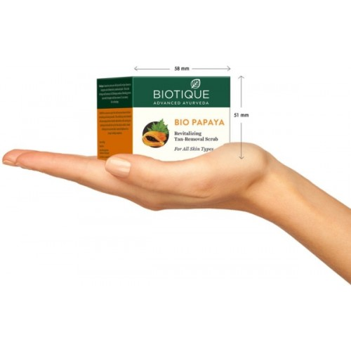 Biotique Bio Papaya Revitalizing Tan-Removal Scrub (75gm)