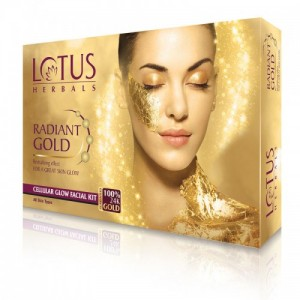 Lotus Herbals Radiant Gold Cellular Glow Facial Kit (Kit)